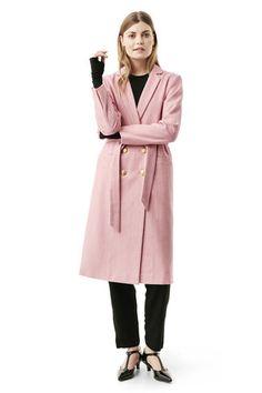 Hawthorne Wool Coat, Peony Melange