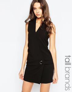 Image 1 ofVero Moda Tall Eyelet Tie Shift Dress