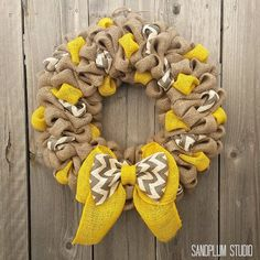 Fall Wreaths - How to Make Multi-Colored Burlap Wreath (Video). See how to use different color burlap ribbon intertwined for a decorative burlap wreath.