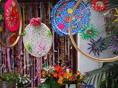 arraia Ramadan Decorations, Wedding Decorations, Fun Crafts, Arts And Crafts, Party Themes, Party Ideas, Dream Catcher, Mandala, Sculptures
