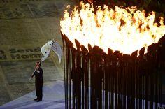 Mayor of Rio de Janeiro Eduardo Paes flies the Olympic flag at the 2012 Olympic Games - Closing Ceremony