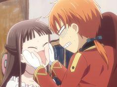 Anime Shojo, Fanarts Anime, Anime Characters, Shoujo, Kyo Manga, Manga Anime, Anime Art, Fruits Basket Funny, Fruits Basket Manga
