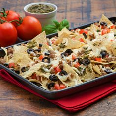 Italian Nachos - Create the tastiest Italian Nachos, Tostitos® own Nachos with step-by-step instructions. Make the best Nachos for any occasion.
