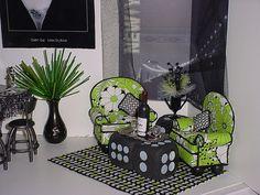 Barbie OOAK House 1 6 Bar Pool Table Chairs Soda Furniture Diorama Huge Lot TH1 | eBay