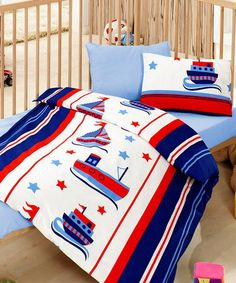 Boats Cot Linen Set by Cute Babies - Bedding for Babies and Kids on #zulilyUK today!