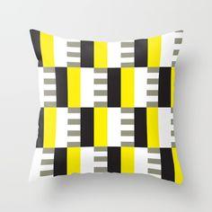 Geometric Pattern #38 (mid-century yellow) Throw Pillow