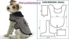 Dog Clothes English Bulldog Dog Clothes Big Brother Best Picture For large Dog supplies For Your Taste … Small Dog Clothes, Pet Clothes, Dog Clothing, Dog Coat Pattern, Dog Clothes Patterns, Sweater Patterns, Coat Patterns, Pet Dogs, Pets