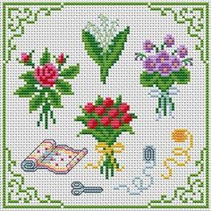 A Bouquet of Every Season.  Tons of FREE CROSS-STITCH PATTERNS at this site: http://cross-stitchers-club.com/?code_avantage=uucqid      Plus, if you click on this link, http://cross-stitchers-club.com/?code_avantage=uucqid , you'll automatically receive a gift when you subscribe. I use this site all the time; there are hundreds of all different types of patterns, and there are new patterns added everyday. It's really worth a look.
