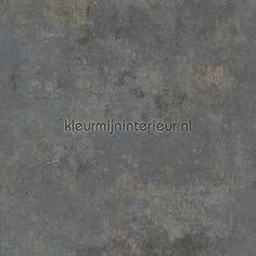 Gemeleerd beton antraciet behang 49824, More Than Elements van BN Wallcoverings