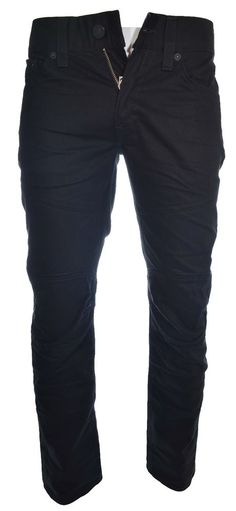True Religion Mens Jeans Size 30 Slim Moto Black Thread Single Iron Side NWT #TrueReligion #SlimSkinny