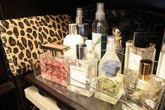 Perfume organization inside the closet