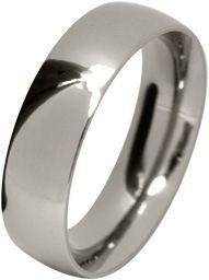 Ti2 Low Profile 6mm Court Titanium Ring