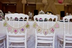 Bunting or bride and groom