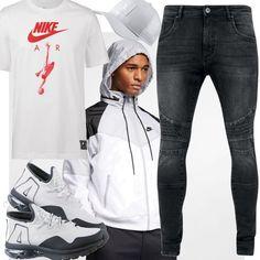 08ce6a70 Nike NSW Windrunner Nylonjacke Herren Weiß Outfit für Herren zum  Nachshoppen auf Stylaholic