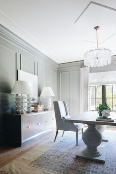 Tour this absolutely dreamy modern English country estate in Illinois Home Office Design, House Design, Best Office, Tiny Office, Rooms Ideas, Mug Design, Interior Architecture, Interior Design, Inspiration Design