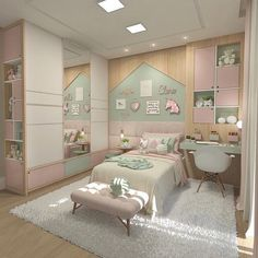 Home Decorating Ideas Kitchen and room Designs Cute Room Decor, Baby Room Decor, Bedroom Decor, Small Room Bedroom, Teen Bedroom, Bedrooms, Dream Rooms, Dream Bedroom, Feminine Bedroom
