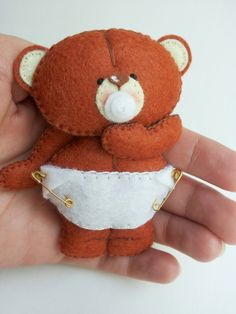 """DIY Inspiration - he's a cute little guy, as my mom would have said, """"No bigger than a minute."""" http://www.helika-my-toys.com/"""