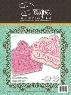 Princess Crown Cookie Stencil Set (no cutter)