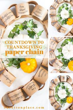Use this countdown to Thanksgiving paper chain printable to mark the days from November 1st to Thanksgiving Day. It's a free printable that's easy to download, and it's the perfect craft for kids or grandkids!