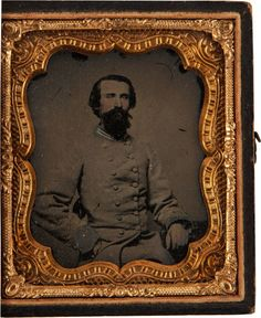 Sixth Plate Confederate Ambrotype Of Dr. William Haskins, Surgeon Of The 59th Virginia Infantry.
