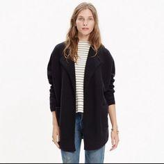 Madewell Oversized Sweater Coat Wool Medium Large
