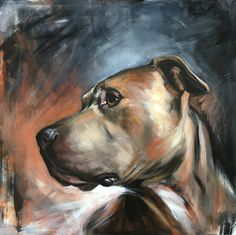Video Cute is Not Enough - Funny Cats and Dogs Compilation - Animal Paintings, Animal Drawings, Cat Dog, Pit Bull Love, Dog Portraits, Portrait Paintings, Dog Art, Bull Terrier, Painting Inspiration