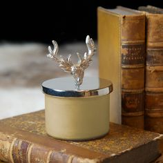 Scented Candle With Stag Head Lid - View All Products - By Collection | Culinary Concepts