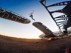 @brannyeakes takes a #leap across abandoned planes in #Arizona. Make the most of your extra day and share with us via link in our bio. #LeapYear #GoPro