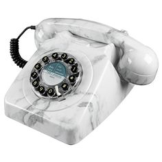 Wild and Wolf 746 Marble Push Button Telephone Retro Phone
