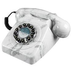 Wild and Wolf 746 Phone - Marble - retro stone-finish telephone