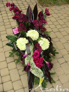 Grave Flowers, Cemetery Flowers, Funeral Flowers, Funeral Floral Arrangements, Flower Arrangements, Flower Spray, Flower Vases, Floral Wedding, Wedding Flowers