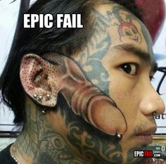 Epic Face Tattoo Fail WHAT'S HIS NAME
