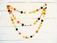 Paper Garland Orange Candy Corn Paper Circles 11 by ThePaperButton