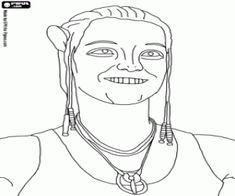 dr grace augustine in avatar coloring page