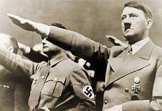 Adolf Hitler, Giving Nazi Salute.