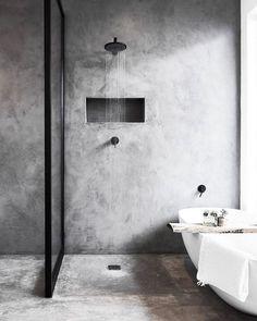 Six of the Best: Black Bathroom Taps — LIV for Interiors Bathroom Layout, Modern Bathroom Design, Bathroom Interior Design, Bathroom Ideas, Bathroom Designs, Industrial Bathroom Design, Industrial Interior Design, Bathroom Goals, Concrete Shower