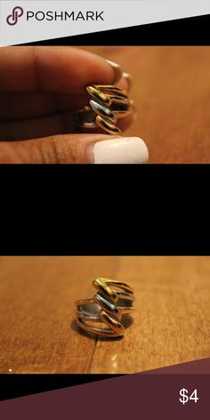 Gold/silver stainless steel ring Stacked/twist style ring Jewelry Rings