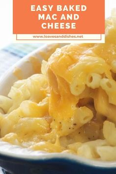 Creamy, cheesy, soft, comforting, southern soul food like easy baked mac and cheese is the best, right? Even better when it only takes 30 minutes! #easy #macandcheese #cheesy Fall Recipes, Crockpot Recipes, Great Recipes, Favorite Recipes, Budget Recipes, Amazing Recipes, Baked Mac, Cheap Meals, Original Recipe