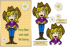 these boots were made for line dancing on Craftsuprint - Add To Basket!
