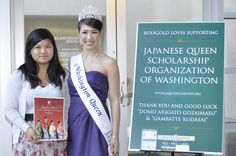 Nhi My Ly (Sales Associate at http://www.bux4gold.com/) represented Bux4Gold at the Japanese Queen event and met with the 2011 Washington Queen, Rica Mackert. — at Meydenbauer Center.