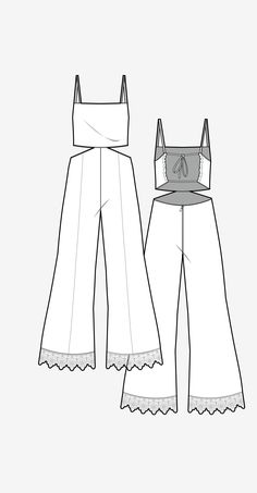 Schürze Overall Silhouette Wgsn Design-Entwicklung Clothing Sketches, Dress Sketches, Fashion Sketchbook, Fashion Design Drawings, Fashion Sketches, Flat Drawings, Flat Sketches, Fashion Templates, Illustration Mode