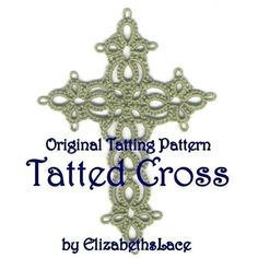 This is my own original tatting design, created as a pattern in pdf format. The pattern is for a fairly small tatted cross. In size 20 thread, the cross will measure approximately 2 wide and 2 3/4 tall. This listing is for a pdf pattern only, not an actual tatted cross.  I would call this an intermediate level tatting pattern that uses two shuttles, rings, chains, picots, joins and lock joins.  The written long-hand instructions are in English, and the pattern also contains a scan of the...