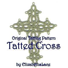 Original Tatting Pattern - Tatted Cross