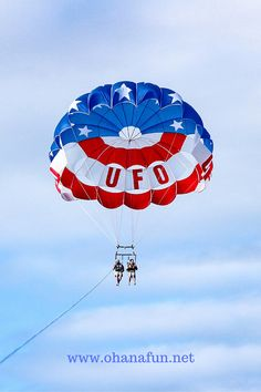 Parasailing in Maui, Hawaii. Try this breath-taking experience on your Maui vacation! It's once in a life-time stuff. You can see our photos and read about our time parasailing with the amazing UFO team here: http://www.ohanafun.net/blog/ufo-parasailing-kaanapali-beach-maui/