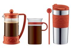 3-Pc Coffee Set, Red