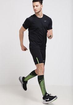 Nike Performance - TECH - Tights - noir/argenté