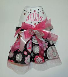 Dog Harness Dress with DRing  Dog Clothes by Delightfuldoggieduds, $35.00
