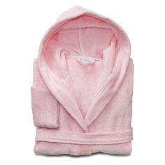 Linum Home Textiles Turtle Kids Turkish Cotton Hooded Terry Bathrobe Pretty Pink - LKDS65-M-CH3415