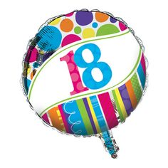Bright And Bold Metallic Balloon 18th/Case of 10 Tags: Bright & Bold; Metallic Balloons; General Birthday; general birthday party ideas;general birthday party decorations;milestone birthday party ideas; https://www.ktsupply.com/products/32786321746/Bright-And-Bold-Metallic-Balloon-18thCase-of-10.html