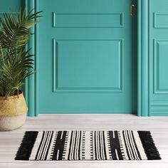 "2'4""X7' Stripe Woven Runner Rug Black - Opalhouse™ : Target"